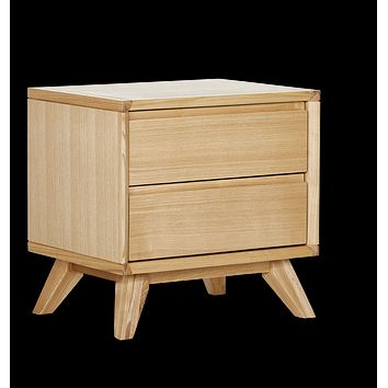 Retro Bedside Table (2 Drawer)