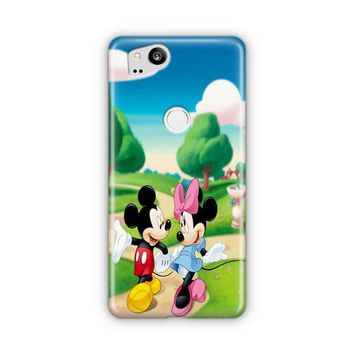 Mickey Mouse And Minnie Mouse Dance Google Pixel 3 XL Case | Casefantasy