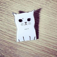 White Cat Acrylic Brooch Pin Jewelry