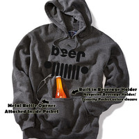 JEEP beer Tailgate Beverage (BEER) Pocket Hoodie