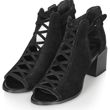 JENNIFER Lattice Mid Shoes - Topshop