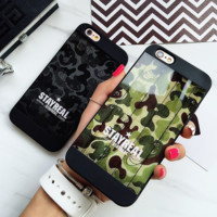 Camouflage matt Phone Case Cover for Apple iPhone 7 7 Plus 5S 5 SE 6 6S 6 Plus 6S Plus + Nice gift box! LJ161101-007