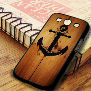 The Anchor Hanging On Wooden Board Samsung Galaxy S3 Case