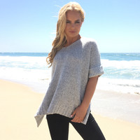 Sugar Knit Sweater In Grey