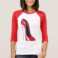 Champagne heel red stiletto shoe art T-Shirt