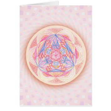 Girl in Three Worlds Sacred Geometry Card