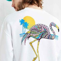 Riot Society Ornate Flamingo Crew-Neck Sweatshirt