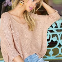 Cora Top in Blush