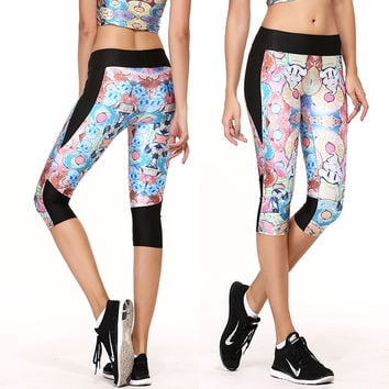 Yoga Print Gym Body Shaper Leggings