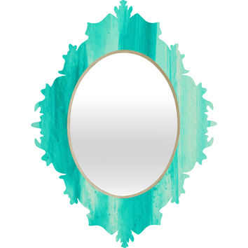 Madart Inc. Modern Dance Aqua Passion Baroque Mirror