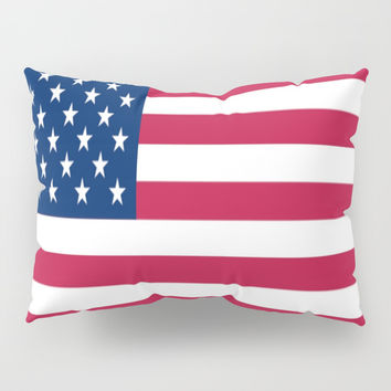 Flag of USA - American flag, flag of america, america, the stars and stripes,us, united states Pillow Sham by oldking