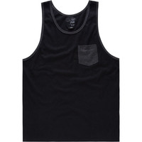 Blue Crown Contrast Mens Tank Black  In Sizes