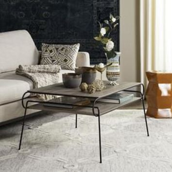 Shop Safavieh Marcello Light Oak/Black Coffee Table at Lowes.com