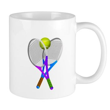 TENNIS RACKETS AND BALL MUGS