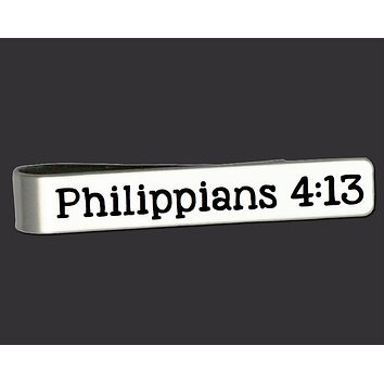Philippians 4:13 Tie Bar | Christian Gift