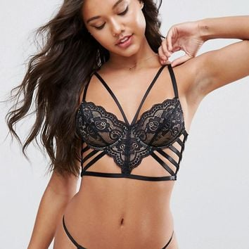 ASOS Florence Strappy Lace Underwire Bra at asos.com