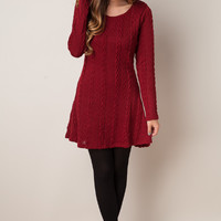Plain Knit Sweater Dress