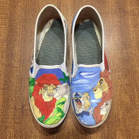 Lion King Hand Painted Canvas Shoes (Generic Brand or Authentic Vans)