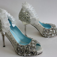 SALE Size 9 Crystal Wedding Shoes