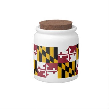 Maryland State Flag Candy Jar