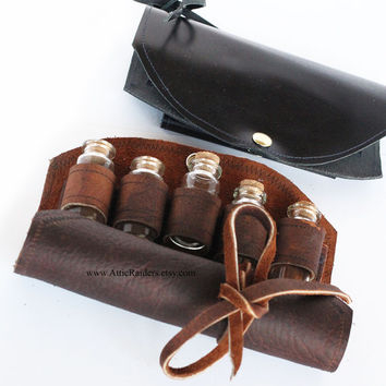 Leather Tea Case - Steampunk - Utility