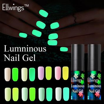 Ellwings Glow In Dark Gel Varnish Fluorescent Neon Luminous Uv Nail Gel Polish Soak Off Lighting In Night Gel Nail Lak