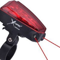 X-Fire 5-LED Taillight with Laser Lane Marker