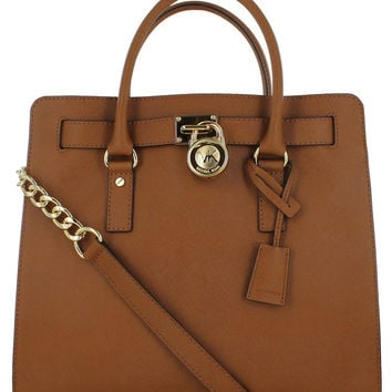 Michael Kors Large Hamilton Women's Leather Tote Handbag