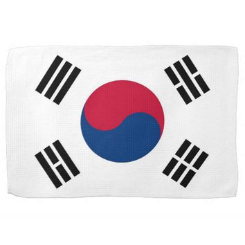 Kitchen towel with Flag of South Korea