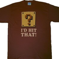 Nintendo Mario Bros I'd Hit That! Brown T-shirt - Nintendo - | TV Store Online