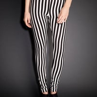 See You Monday Striped Leggings