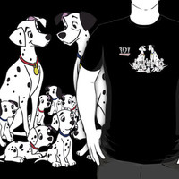 #na 101 Dalmatians movie black t-shirt
