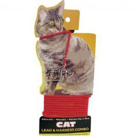 Coastal Pet Cat Lead and Harness Red