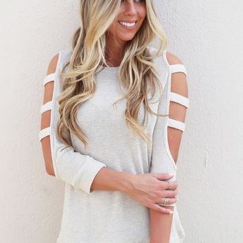 Cut It Out Lightweight Knit {Oatmeal}