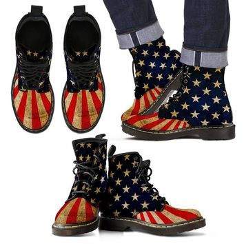 Great American Distressed Flag Boots Men/Ladies