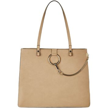 Chloé Medium Faye Tote in Chestnut Cream | Harrods