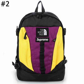 The North Face x Supreme co-branded tide brand color matching men's outdoor sports backpack #2