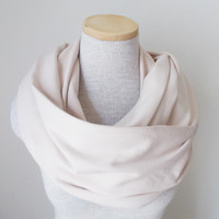 Nude Jersey Knit Infinity Scarf