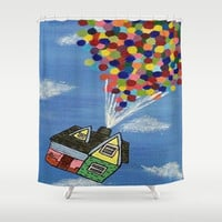 Up Shower Curtain by Sierra Christy Art