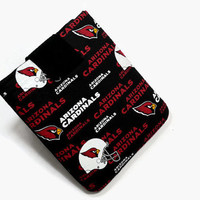 Hand Crafted Tablet Case From Licensed NFL Arizona Cardinals Football Team Fabric /Case for: iPadmini,Kindlefire HD, Google Nexus,Nook HD