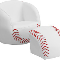Kids Baseball Chair and Footstool