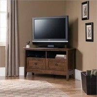Sauder August Hill Corner TV Stand in Oiled Oak - Walmart.com