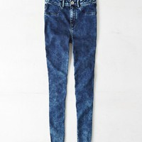 AEO Women's Sky High Jegging (Indigo Acid)