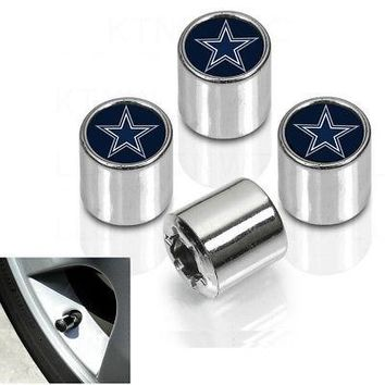 Licensed Official New NFL Dallas Cowboys Car Truck Plastic Chrome Finish Tire Valve Stem Caps