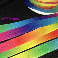 5 yards 5/8 Tye Dye elastic, FOE, Wholesale elastic, headband supplies, fold over elastic, elastic for hair ties,