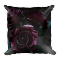 Cemetery Roses Throw Pillow