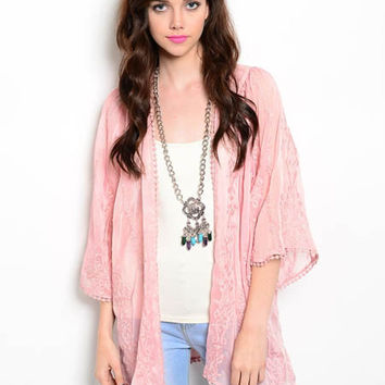 Tickled Pink Kimono Cardigan from DazyLu Clothing Boutique | cute