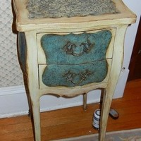 French Provencial Side Table Shabby Chic