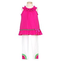 Rare Editions Pink Watermelon Spring Outfit Infant Toddler Girls 3M-4T