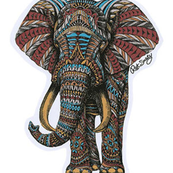 RIOT SOCIETY Tribal Elephant Sticker | Stickers